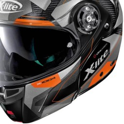 Casco X-Lite X 1004 Dedalon carbonio black orange, Caschi Modulari