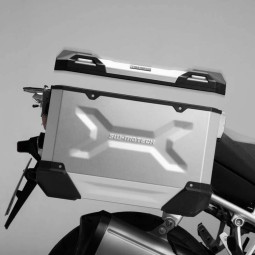 SW Motech Trax ADV motorcycle side cases silver, Side cases