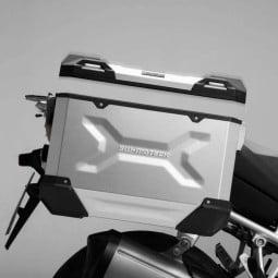 Valise latérale moto SW Motech Trax ADV argent, Valises latérales