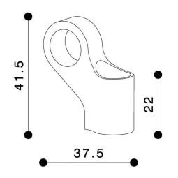 Rizoma universaladapter rückspiegel SIDE MOUNT, Rückspiegel