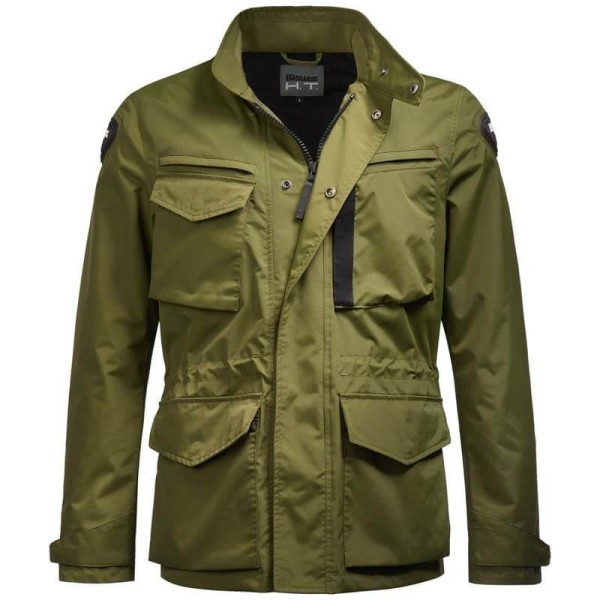 Blauer HT motorcycle jacket Ethan green, Motorcycle jackets