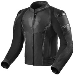 Rev'it Glide chaqueta cuero moto negro