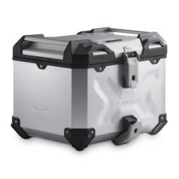 Maleta superior TRAX ADV 38 Sw Motech plata, Top case