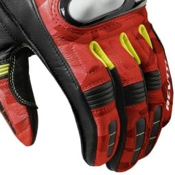 Guantes moto Revit League negro rojo