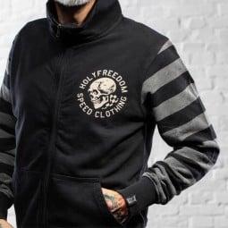 Motorrad hoodie Holy Freedom Skull