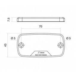 Rizoma abdeckung für Brems-Ausgleichsbehälter Honda silber