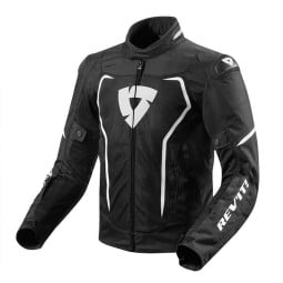 Chaqueta Tela Moto REVIT Vertex Air Negro Blanco