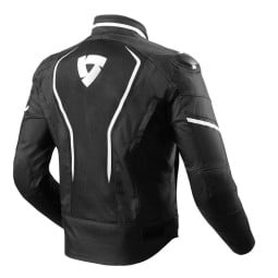Motorcycle Fabric Jacket REVIT Vertex Black White