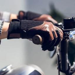 Guantes moto Biltwell Bantam marron negro