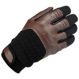 Biltwell Bantam motorcycle gloves brown black