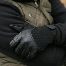 Biltwell Bantam motorcycle gloves black