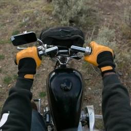 Biltwell Bantam motorcycle gloves tan black