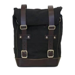 Sac moto Canvas Unit Garage noir marron
