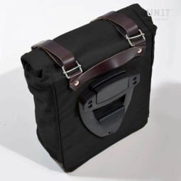 Motorcyle Canvas Bag Unit Garage black brown