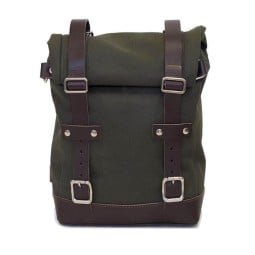 Sac moto Canvas Unit Garage vert marron