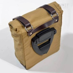 Sac moto Canvas Unit Garage beige marron