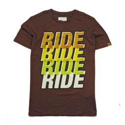 T-shirt Roeg Moto Co Ride Four marron