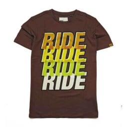 T-shirt Roeg Moto Ride Four marron
