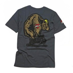 Roeg Moto Throttle Bear T-shirt grey