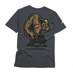 T-shirt Roeg Moto Throttle Bear gris