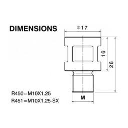 Rizoma universaladapter rückspiegel DIRECT MOUNT
