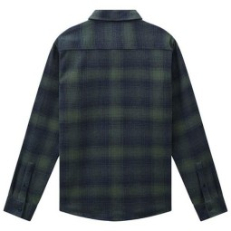 Dickies Pleasant Hill green checked shirt
