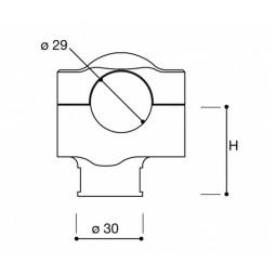 Rizoma Riser Adapter Conus 2 h 42 mm