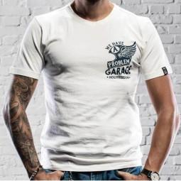 T-shirt Holy Freedom Helmet White