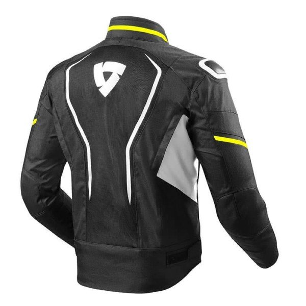 Motorcycle Fabric Jacket REVIT Vertex Black Neon Yellow