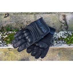 Roeg FNGR All-Leather black motorcycle gloves
