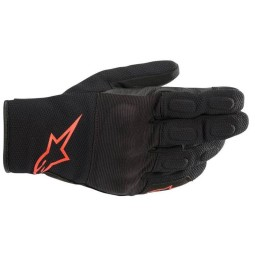Guantes Alpinestars S-MAX Drystar negro rojo