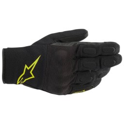 Alpinestars S-MAX Drystar gloves black yellow