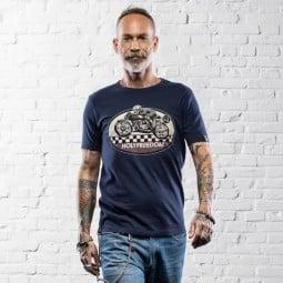 T-shirt Holy Freedom Ghost Rider bleu