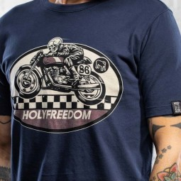 Holy Freedom T-shirt Ghost Rider blue