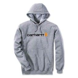 Carhartt Signature Logo Hoodie grau