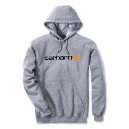Sweat à capuche Carhartt Signature Logo gris
