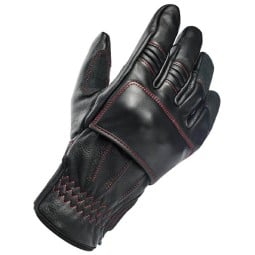 Motorcycle gloves Biltwell Belden black red