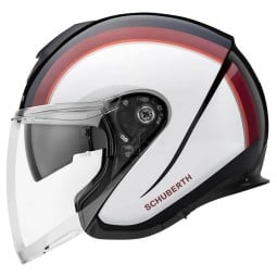 Casco jet Schuberth M1 Pro Outline rojo