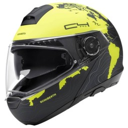Schuberth C4 Pro Magnitudo flip-up helmet yellow