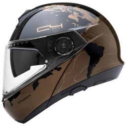 Schuberth C4 Pro Magnitudo flip-up helmet brown