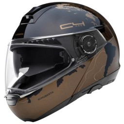 Casco Schuberth C4 Pro Magnitudo flip-up marrón
