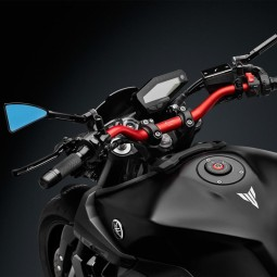 Rizoma tapa depositos de combustible Yamaha negro