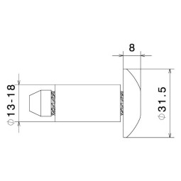 Rizoma handlebar caps bronze MA531