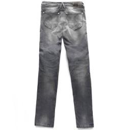 Blauer HT Scarlett Frau Motorrad Jeans grau