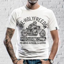 Holy Freedom Skeleton Rider weiss T-shirt
