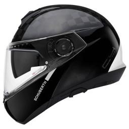Schuberth C4 Pro Carbon Fusion casque modulable blanc