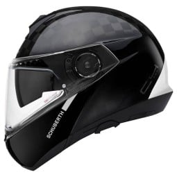 Schuberth C4 Pro Carbon Fusion white flip-up helmet
