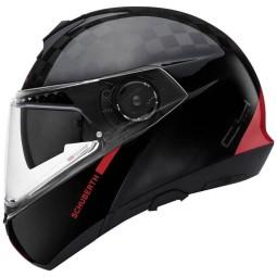 Schuberth C4 Pro Carbon Fusion casque modulable rouge