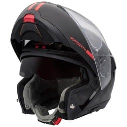 Schuberth C4 Pro Carbon Fusion red flip-up helmet
