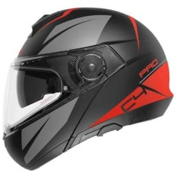 Schuberth C4 Pro Merak red flip-up helmet